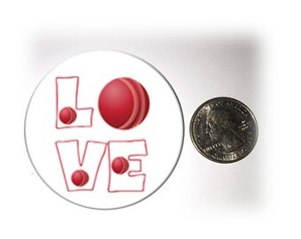 Love Cricket Refrigerator Magnet 2 1/4 inches in diameter