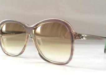 80s Vintage German Köln Optik Stripe Pattern Sunglasses