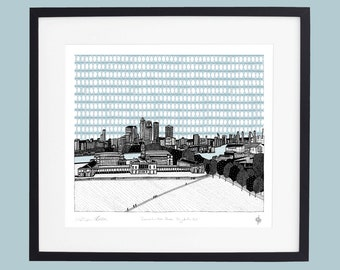 Greenwich - From the Wolfe Statue Limited Edition Screen Print