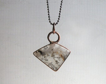 Quartz Necklace Rutile Raw Stone Copper Jewelry Crystal Gemstone Agate Stone Pendant Artisan Handmade