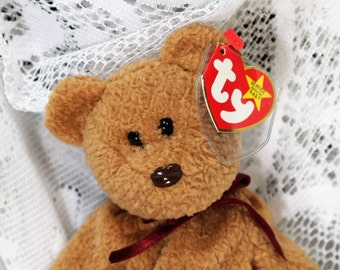 1996, Curly Beanie Baby, Ty Beanie Babies Rare, Curly Beanie Baby With Errors