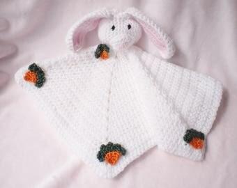 Crocheted Snuggle Easter Bunny Blanket Baby Girl
