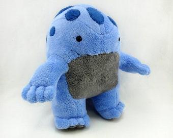 Blue and grey quaggan plushie stuffed toy