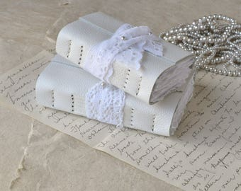 White Leather and Lace Journal - Two sizes