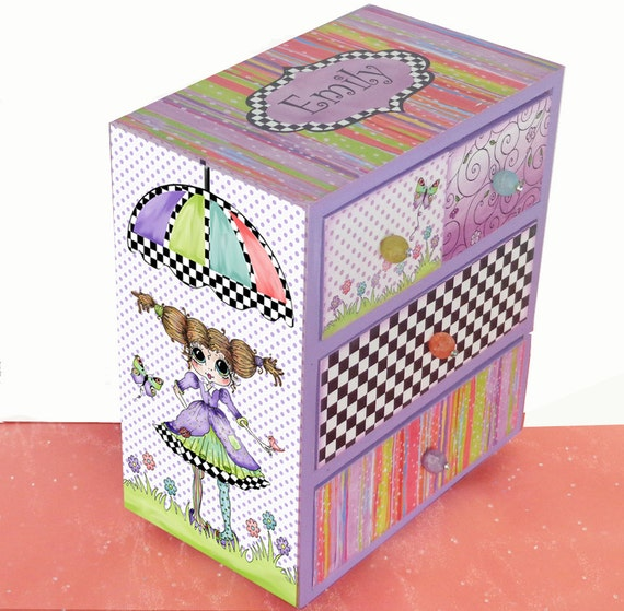 Girls jewelry box big eyes sweet sassy personalized for Girls large jewelry box