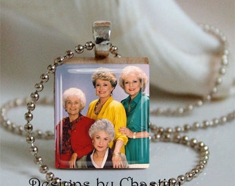 The Golden Girl Necklace Scrabble Art Dorothy Blanche Rose
