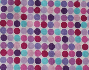 Fabric Multi Color Dots Fabric and Notions Crafts Supplies and Tools Sewing Supplies Pink Fabric Purple Fabric Quilting Fabric