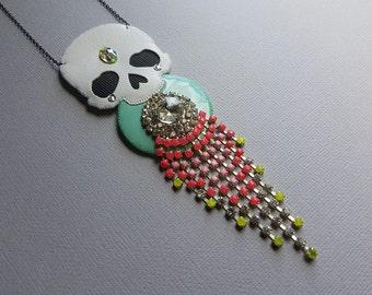 Chandelier Skull Necklace