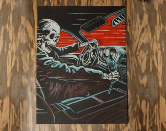 Death Racer- Silk Screen - Limited 1st Edition