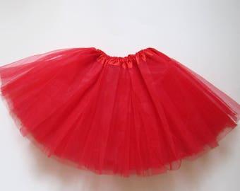 Red tutu, girl tutu, mothers day tutu, valentines day tutu