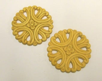 FREE SHIPPING 8 Pc Crafter's LOT Onlays Wood Appliques Round Cutout Medallion Birch Trims 3.5 Inches