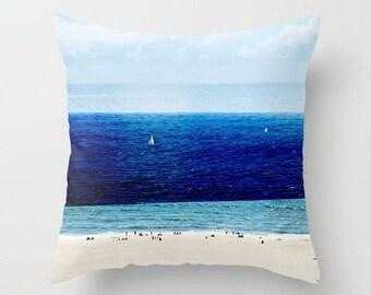 Nautical ThemeThrow Pillow // Navy Blue Green Blue Decor // Decorative Throw Pillows // Hostess Gift // Beach Cottage Decor Throw Pillow