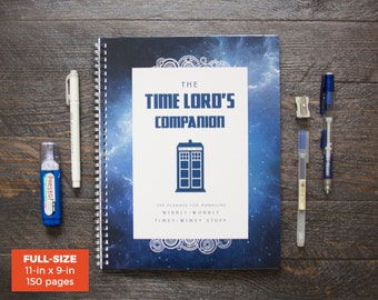 Doctor Who Planner / Weekly / Full-Size / 12 Months / Choose Your Layout (Vertical or Horizontal) / Pick Your Starting Month