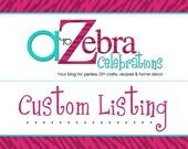 Custom Listing- Foam Letters