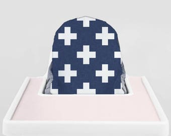 Delft Plus // IKEA Antilop Highchair Cover // High Chair Cover for the PYTTIG Cushion // Pillow Slipcover