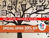 Black Friday Sale - Wall decal, Family Tree Wall Decal - Photo frame tree Decal - Family Tree Wall Sticker - Living Room Wall Decals - wa...