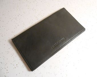Liz Claiborne Black Leather Checkbook and Credit Card Holder 90's Era
