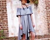 M Spell Gypsy sundress, Boho dress, Off the shoulder dress, Bohemian beach dress, Hippie Music festival ruffle dress, True rebel clothing