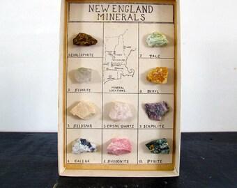 New England Minerals Specimen Rocks Midcentury MCM 1950s