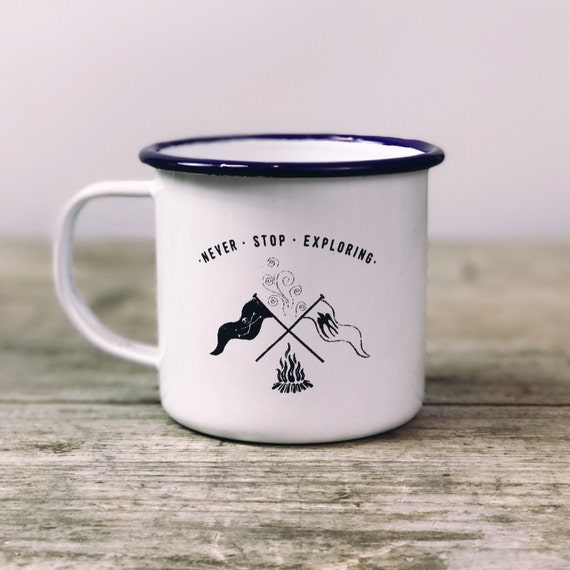 Campfire Flags 2017 - Etched Enamel Mug