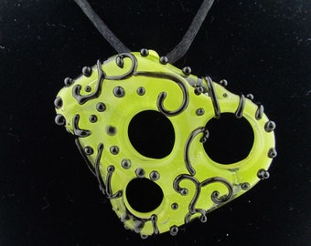 Handmade Borosilicate glass pendant.