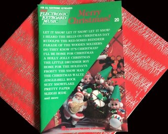 Vintage- 1975 Music Book- CHRISTMAS- For Electronic Keyboard- Hal Leonard- 20 Songs- Holly Jolly- Drummer Boy- Frosty- Suzy Snowflake-