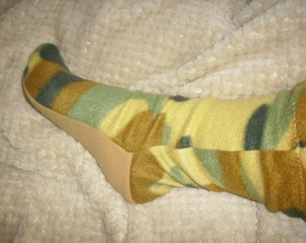 fleece socks, winter socks, boot socks, camo print, ski