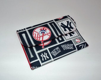 NY Yankees Card Case, iPod case, Gift Card Case, Wallet, Passport Case