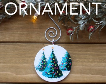 Fir Trees Ornament, Christmas Tree Decoration, Tree Ornament, Vintage Ornament, Cherub Gift, Christmas Gift, Stocking Stuffer, Free Shipping