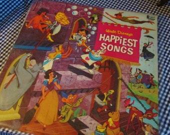 Walt Disney's Happiest Songs Vinyl LP