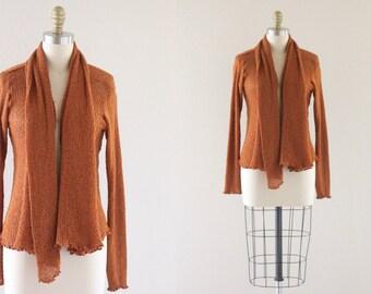 cognac slouch cardigan sweater