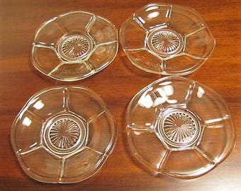 Set of 4, Heisey, Peerless, Small 4 Inch Plates