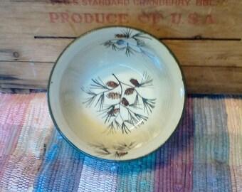 Medium size handmade pottery bowl - 24 oz bowl - Handmade ceramic serving bowl - Rustic Pottery Bowl in Pinecone 1743