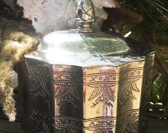silver trinket box, vintage goddinger silver box