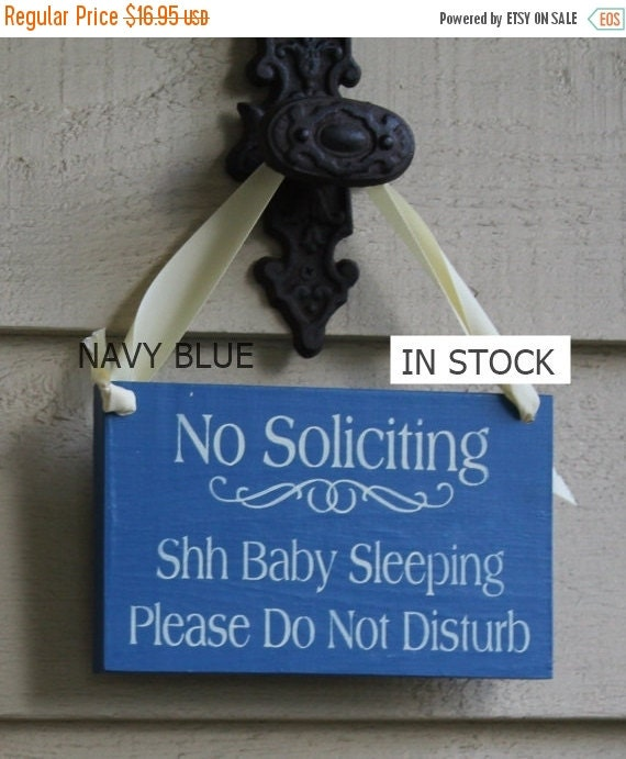 No Soliciting/Baby Sleeping/ Please Do Not Disturb Sign/YOU Choose Color/Wood Sign/Outdoor Sign/Front Door Sign/Ready