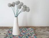 Pale Gray Pom pom Flowers.  Felt Flowers.  Modern Bouquet.  Faux, Fake Flowers. Craspedia, billy balls, billy buttons.  Wool Felt Balls.