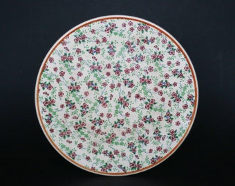 vintage chintz cake plate made in japan