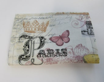 Paris Credit Card Wallet, Eiffel Tower,  France, Versailles, Business Card Holder, Gift Card Holder, Small Wallet, Loyalty Card Holder