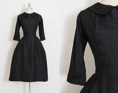 Vintage 50s Dress | Suzy Perette silk 1950s dress | Dior inspired | medium m | 5842
