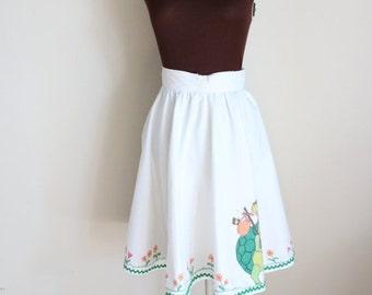 50% OFF SALE Vintage 1970's Turtle Print Circle Skirt