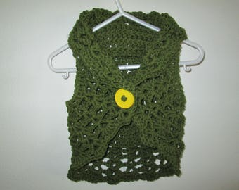 Green Baby Sweater Crocheted by SuzannesStitches, Crochet Baby Sweater, Baby Girl Sweater, Baby Girl Crochet, Baby Sweater, Crochet Sweater