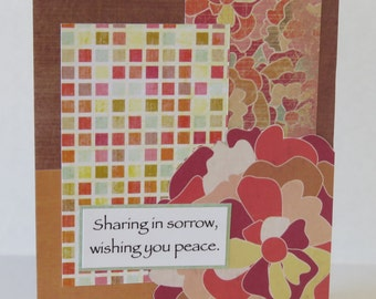 Sharing In Sorrow, Wishing You Peace Christian Sympathy Card With Scripture