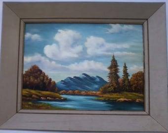 Vintage Mid Century Oil Painting Landscape signed Richard L. See