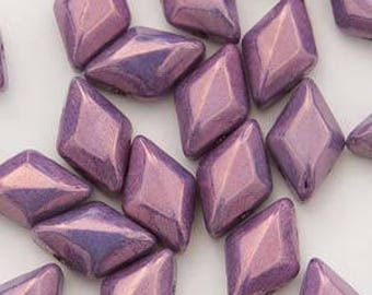GemDuo 2 hole Beads, 8x5mm, 10 grams, #P15726 Vega Lila Luster - FREE pattern with purchase