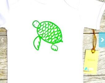 Kids - Turtle -Toddler T-Shirt or Baby Onesie