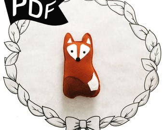Little Friendly Fox PDF Plush Sewing Pattern