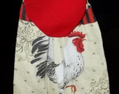 Hanging Kitchen Towels - Red and Black Rooster