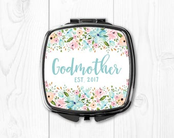 Fairy Godmother Gift Ideas Fairy Godmother Mirror Will You Be My Godmother Est 2017 Gift for Godmother Will You Be My Godmother Gift Compact