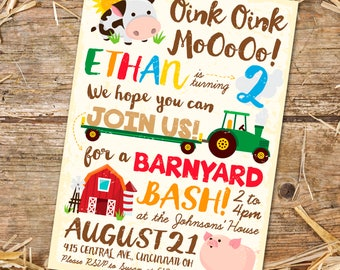 Barnyard Birthday Invitation (Printable PDF)