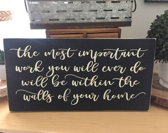The most important work you will ever do
